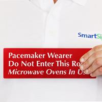 Pacemaker Wearer Do Not Enter Room Sign