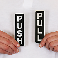 Pull Push Set Signs