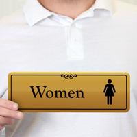 Women Gold DiamondPlate™ Door Sign