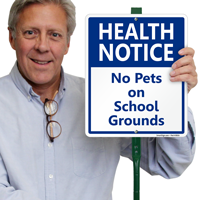 No Pets On School Grounds Sign & Kit