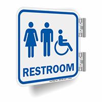 Unisex And Handicap Restroom Symbol Sign