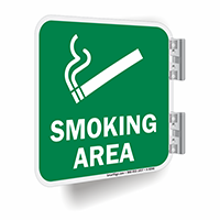 Smoking Area Sign (with Graphic)