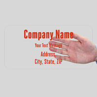 Custom Company Name, Address and Text, Single-Sided Label