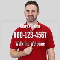 Custom Business Name Phone Number Die Cut Label