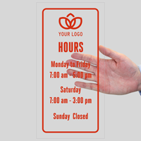 Customizable Logo and Working Hours, Single-Sided Label