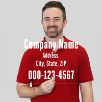 Customizable Text Number Die Cut Label