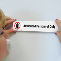 Authorized Personnel Only Stacking Magnetic Door Sign