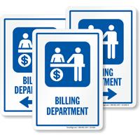 Billing Department Sign