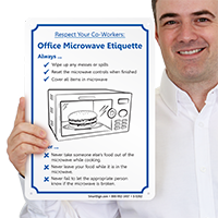 Respect Office Microwave Etiquette Door Sign