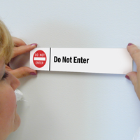 Do Not Enter Stacking Magnetic Door Sign