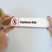 Employees Only Stacking Magnetic Door Sign
