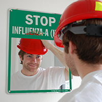 Stop Influenza-A (H1N1) Sign