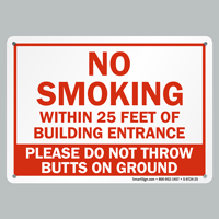 No Smoking Of Entrance Signs