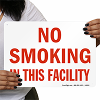 No Smoking In This Facility Sign