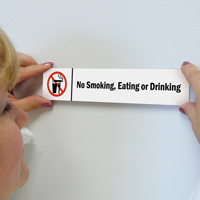 No Smoking, Eating Or Drinking Magnetic Door Sign