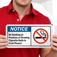 Cigarette Butt Sign