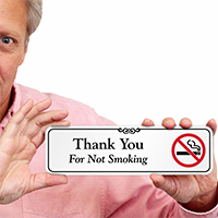 Thank You For Not Smoking Designer Wall Sign