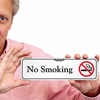No Smoking  Designer Wall Sign