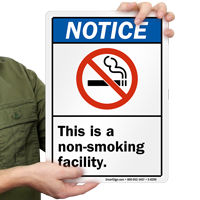 Non Smoking Facility Sign