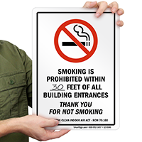 Smoking Is Prohibited Within Write-On Sign