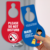 Do Not Disturb Pear Shaped Door Hang Tag