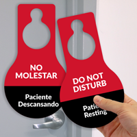 Do Not Disturb Patient Resting Door Hang Tag