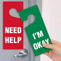 Double-Sided Door Hanger Tag