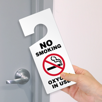 No Smoking Oxygen In Use Door Hanging Tag