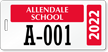 Custom School Pass Backpack Tags