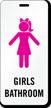 Girls Bathroom Hall Pass ID