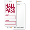 School Hall Pass Tag, Writable Teacher Name, Room