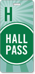 Hall Pass Green Colored Stripes Design Tag