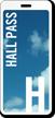 School Hall Pass ID with Blue Sky Design
