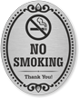 No Smoking Thank You DiamondPlate Door Sign