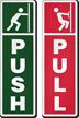 Push Pull DiamondPlate Anodized Door Sign