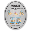 Wash Your Hands Diamond Plate Door Sign
