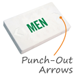Men, LED Exit Sign with Battery Backup