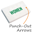 Women LED Exit Sign with Battery Backup