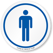 Men's Restroom ISO Circle Sign
