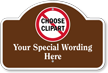 Add Wording And Choose Clipart Custom Dome Top Sign