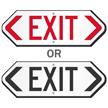 Bi-Directional Exit Sign