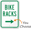 Bike Racks Sign with Arrow