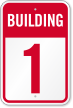 Building 1 Numbered Sign