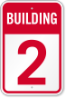 Building 2 Numbered Sign