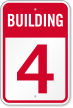 Building 4 Numbered Sign