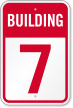 Building 7 Numbered Sign