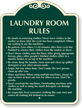 Custom Laundry Room Rules Signature Sign