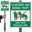 Custom No Dogs LawnBoss Sign
