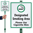 Smoking LawnBoss® Sign & Stake Kit
