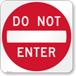 DO NOT ENTER Aluminum Property Sign